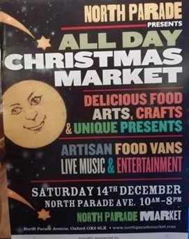 'All Day' Christmas Market, Saturday 14th.
